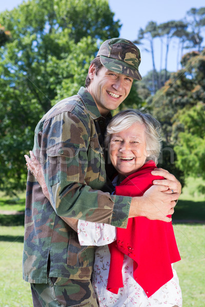 Soldier reunited with his mother Stock photo © wavebreak_media