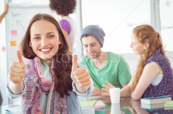 моде студентов колледжей женщину рук Сток-фото © wavebreak_media