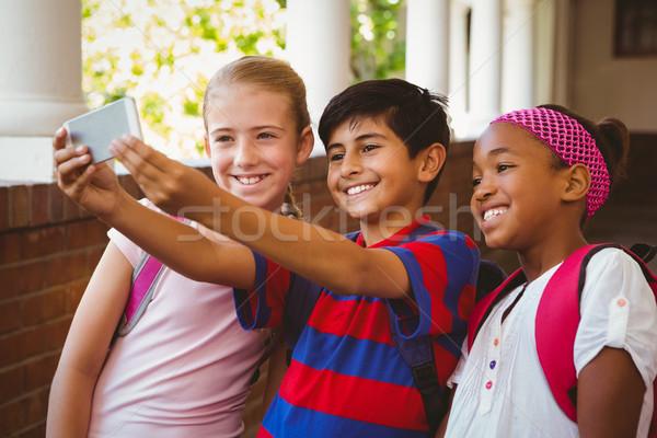 счастливым дети школы коридор портрет Сток-фото © wavebreak_media