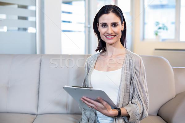 психолог сидят диване служба женщину Сток-фото © wavebreak_media
