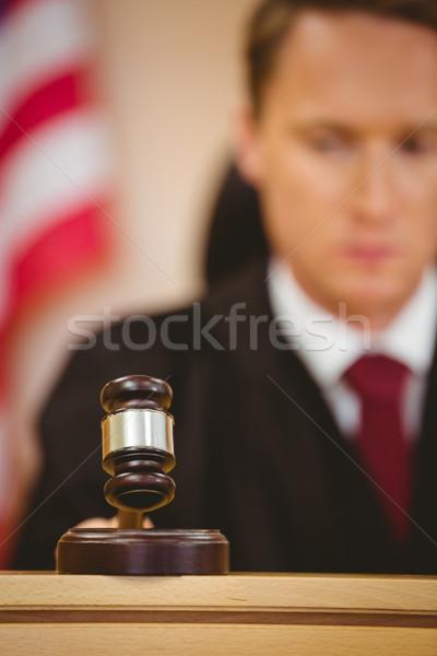Ciddi yargıç patlama tokmak mahkeme oda Stok fotoğraf © wavebreak_media