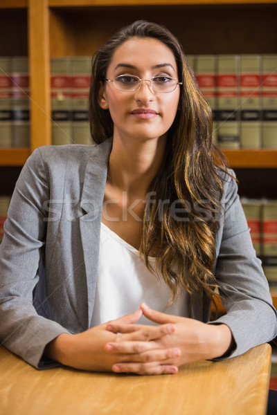 Pretty lawyer in the law library Stock photo © wavebreak_media