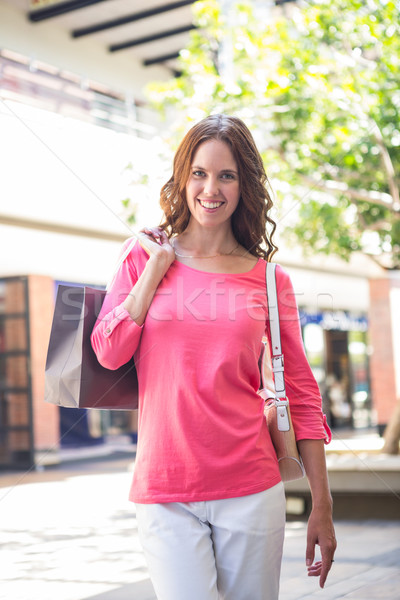 Jolie femme Mall Shopping Homme souriant Photo stock © wavebreak_media