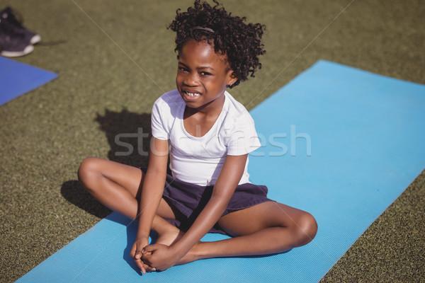 Sorridente aluna retrato grama escolas Foto stock © wavebreak_media