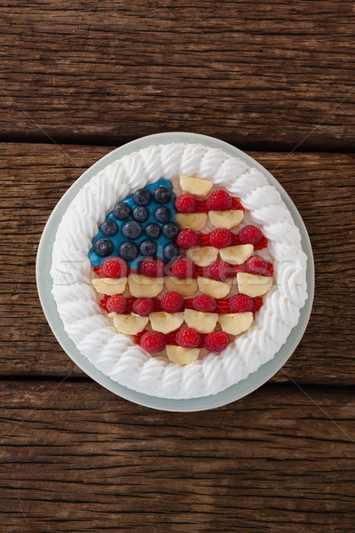 Stock photo: Fruitcake with 4th july theme