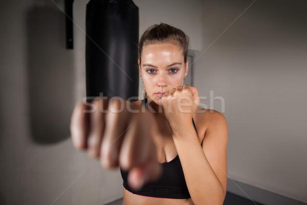 Femenino boxeador boxeo fitness estudio Foto stock © wavebreak_media