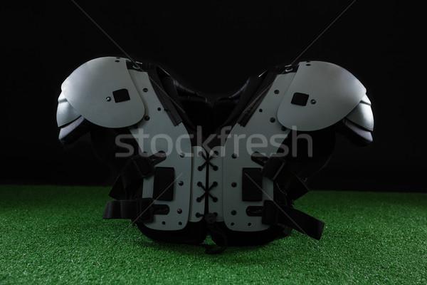 Amerikai futball váll mesterséges tőzeg közelkép Stock fotó © wavebreak_media