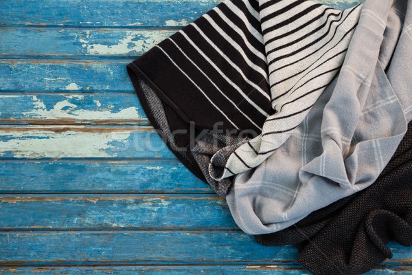 Overhead view of fabric on wooden table Stock photo © wavebreak_media