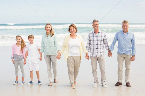 Multi generation family standing beside one another Stock photo © wavebreak_media