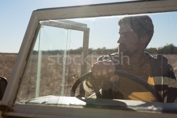 человека дороги автомобиль лобовое стекло лес Сток-фото © wavebreak_media