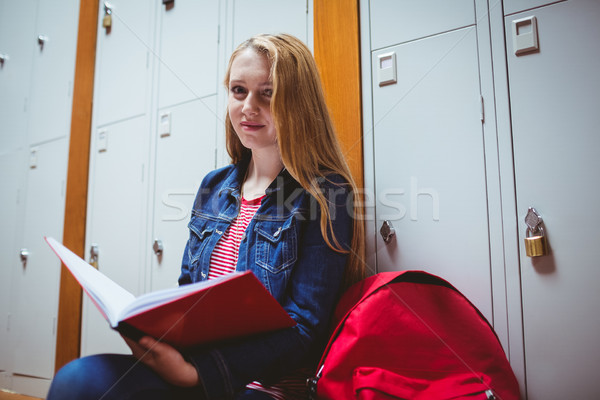 Focused student sitting and studying on notebook Stock photo © wavebreak_media