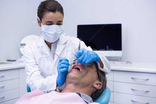 врач стоматологических лечение пациент клинике Сток-фото © wavebreak_media