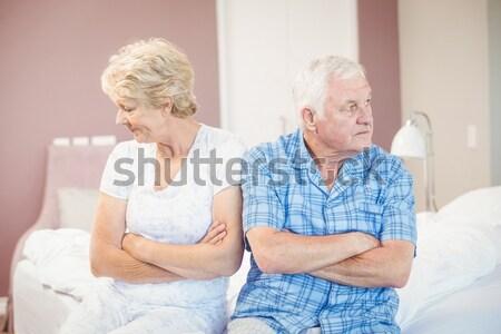 Femme réconfortant supérieurs mari souffrance estomac Photo stock © wavebreak_media