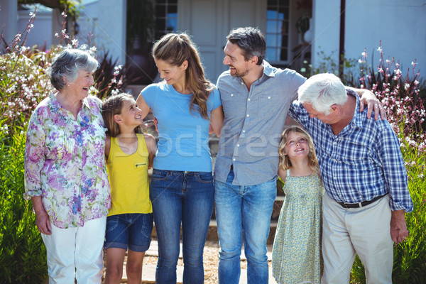 Cheerful multi-generation family looking at each other Stock photo © wavebreak_media