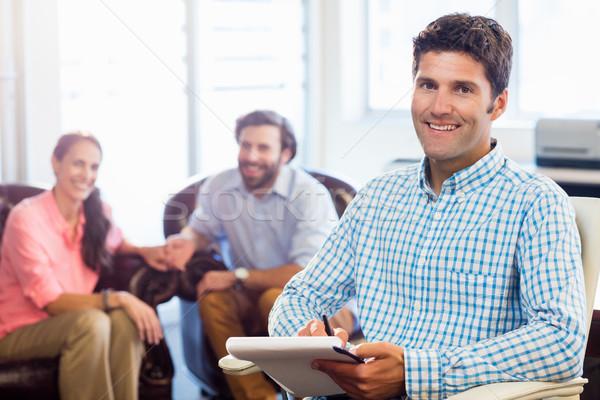 Psicologo aiutare Coppia rapporto difficoltà ufficio Foto d'archivio © wavebreak_media