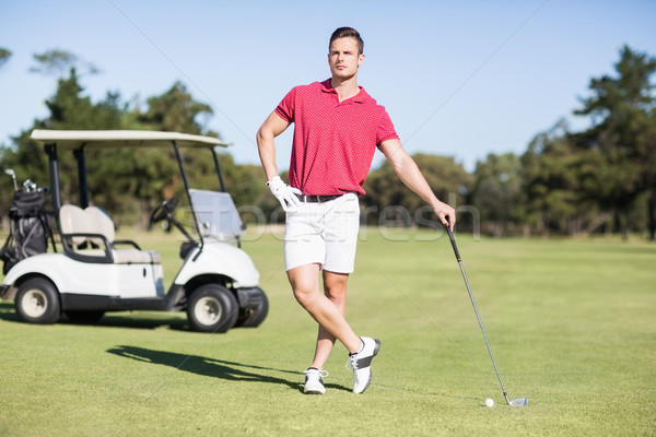 Full length of young golfer with hand on hip Stock photo © wavebreak_media