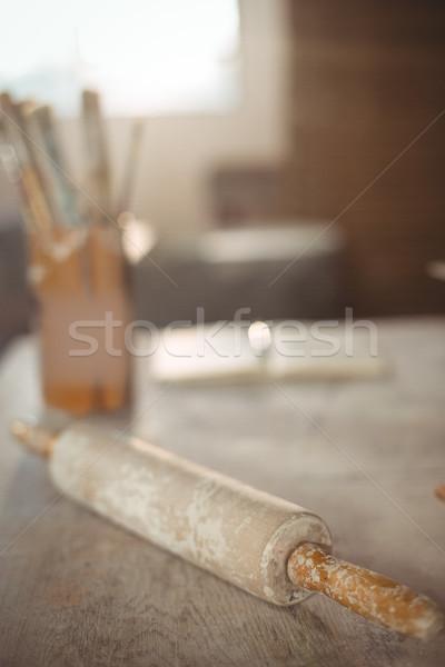 Pin haddeleme tablo çanak çömlek atölye Stok fotoğraf © wavebreak_media