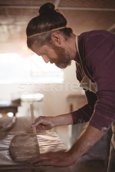 Homme argile poterie atelier homme art Photo stock © wavebreak_media