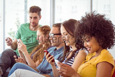 Women sitting on floor Stock photo © wavebreak_media