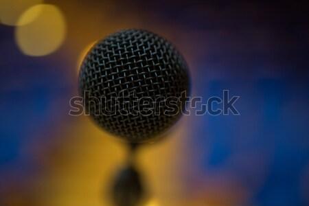 Microfoon conferentiezaal vergadering pen schrijven communicatie Stockfoto © wavebreak_media