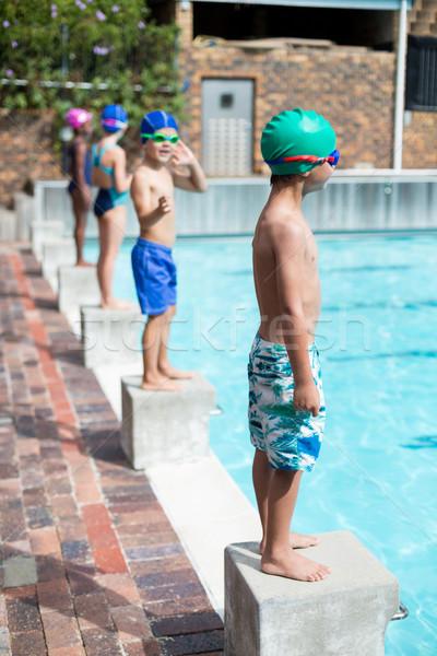 Erkek bekleme başlatmak bloklar su Stok fotoğraf © wavebreak_media
