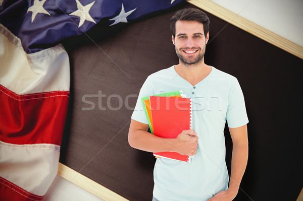 Imagem estudante bloco de notas homem Foto stock © wavebreak_media