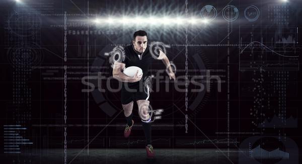 Imagem rugby jogador corrida bola Foto stock © wavebreak_media