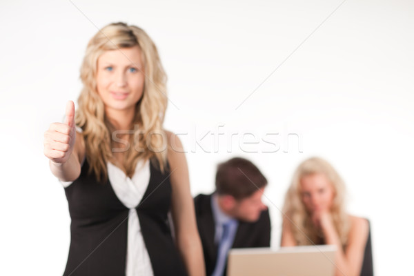 businesswoman with her thumb up to camera Stock photo © wavebreak_media