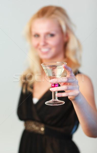 グラマラス 女性 カクテル フォーカス ストックフォト © wavebreak_media