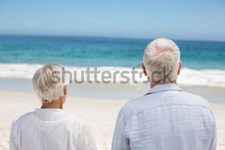 çift bakıyor deniz kadın plaj gülümseme Stok fotoğraf © wavebreak_media