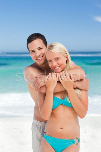 влюбленный пару пляж женщину счастливым модель Сток-фото © wavebreak_media