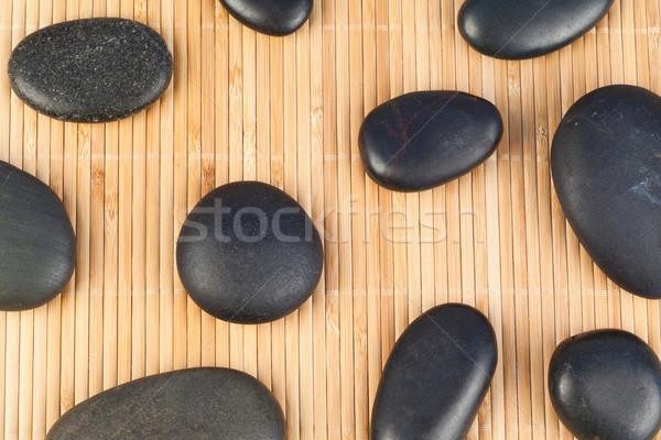 Negro piedras bambú naturaleza fondo medicina Foto stock © wavebreak_media
