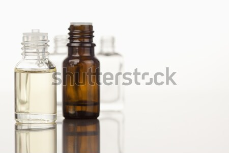 Focus on two glass phials against a white background Stock photo © wavebreak_media