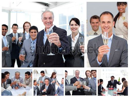 Collage of businesspeople posing in different situations Stock photo © wavebreak_media