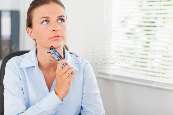 Kobieta interesu okulary biuro kobieta strony Zdjęcia stock © wavebreak_media
