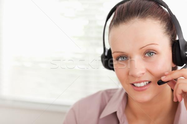 Opérateur client hotline affaires ordinateur femme Photo stock © wavebreak_media