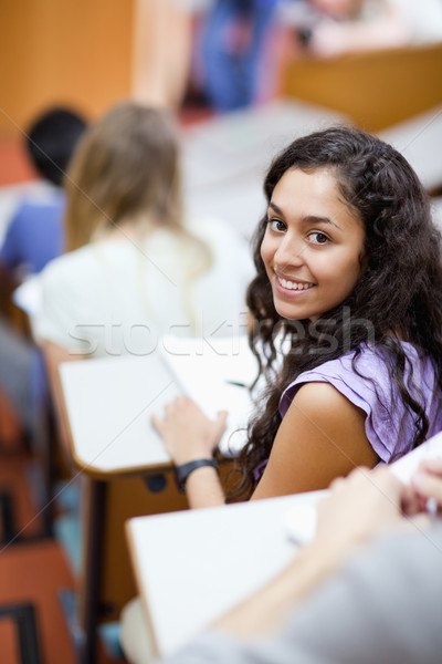 Portre gülen öğrenci amfitiyatro mutlu Stok fotoğraf © wavebreak_media