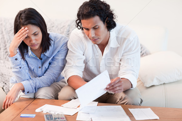 Young couple depressed about financial problems Stock photo © wavebreak_media
