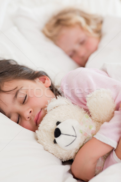 Retrato crianças adormecido quarto família Foto stock © wavebreak_media
