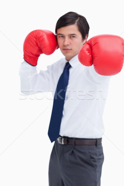 кулаком боксерская перчатка белый бизнеса человека Сток-фото © wavebreak_media
