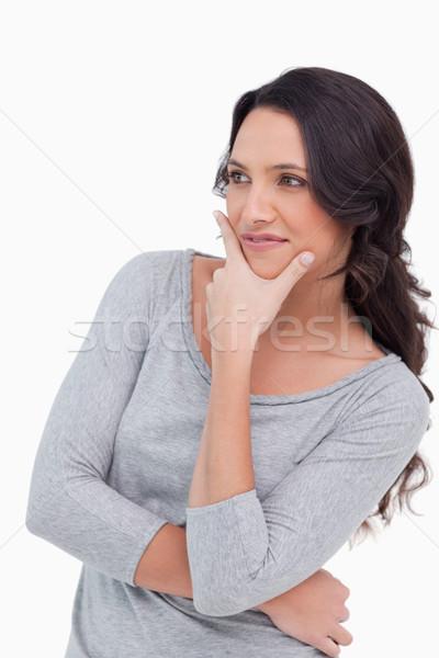 Kobieta myśli biały młodych myślenia Zdjęcia stock © wavebreak_media