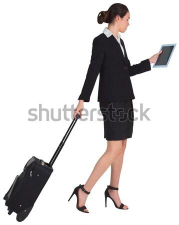 Imprenditrice valigia business moda sfondo lavoratore Foto d'archivio © wavebreak_media