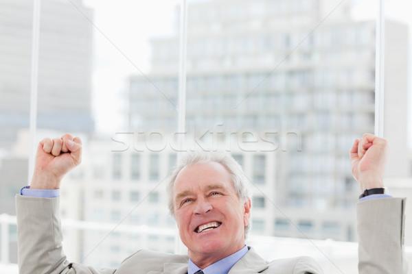 успешный бизнесмен вверх служба бизнеса человека Сток-фото © wavebreak_media
