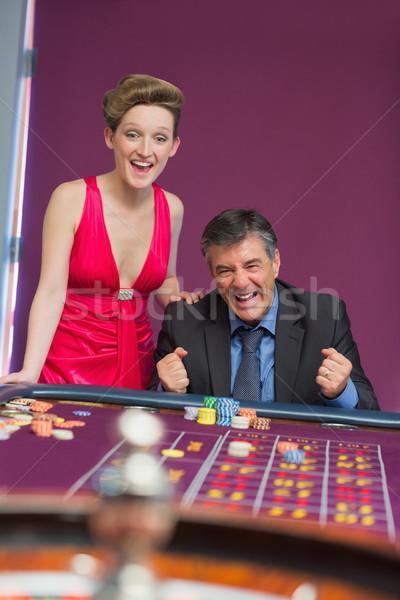 男 女性 ルーレット 表 カジノ ストックフォト © wavebreak_media