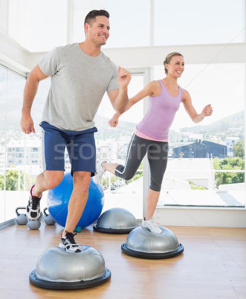 пару шаг аэробика фитнес студию Сток-фото © wavebreak_media