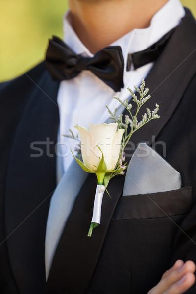 Blumen männlich schönen Party Stock foto © wavebreak_media