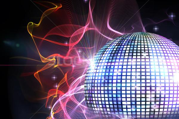 Cyfrowo wygenerowany disco ball czarny strony Zdjęcia stock © wavebreak_media