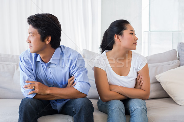 Couple not talking after a dispute on the sofa Stock photo © wavebreak_media