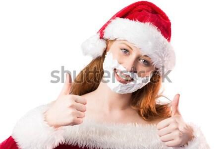 Feestelijk schuim baard witte grappig Stockfoto © wavebreak_media
