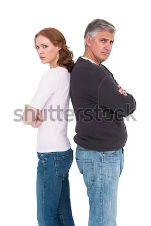 Casual couple not speaking after fight Stock photo © wavebreak_media